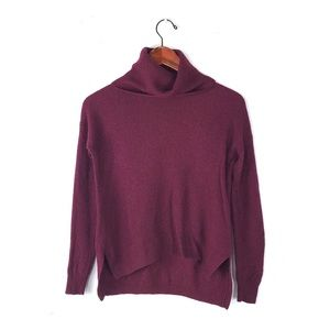 Madewell sweater ribbed turtleneck maroon knit xs